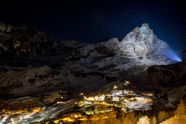 Cervinia by night